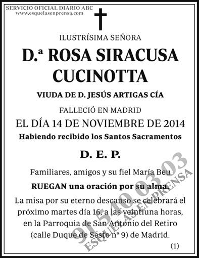 Rosa Siracusa Cucinotta